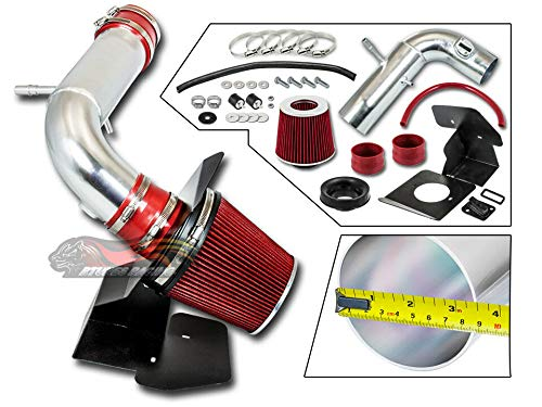 S & T Racing RED 2011-2018 For Explorer 3.5L V6 Non-Turbo COLD SHIELD AIR INTAKE KIT +FILTER