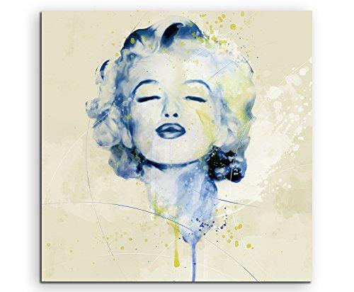 Marilyn Monroe X Aqua 60x60cm - Splash Art Paul Sinus Wandbild auf Leinwand - Malerei, Kunstbild, Aquarell, Fineartprint