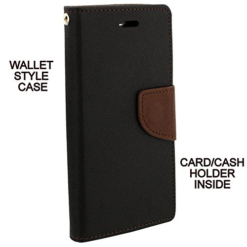 Avzax Luxury Magnetic Lock Diary Wallet Style Flip Cover Case for Micromax Canvas 5 E481 - Black