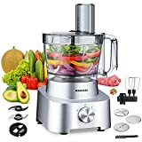 10 in 1 Food Processor - 2021 MAGICCOS 14 Cup Food Processor, Upgraded 1000W for Dicing, Egg Whisking, Chopping, Doughing, Mashing, Fine/Coarse Slicing&Shredding, Premium Die-Casting Aluminum Base