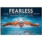 MXIBUN Michael Phelps Motivierende Zitate Sport Seide