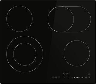 KKT KOLBE Plaque vitrocéramique 59cm / Autarkic / 7,2kW / 9 marches / 4 zones/sans cadre/double zone/curseur tactile/zone ...