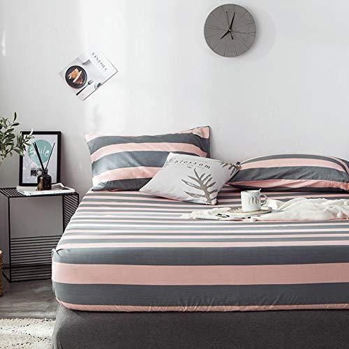 haiba Sábana bajera: transpirable, suave y cómoda (una sola pieza/doble), 180 x 200 cm + 25 cm.
