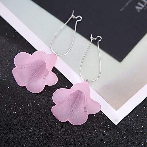 ZSML Europäischen und amerikanischen minimalistischen Temperament transparent unregelmäßigen Stereo-Lautsprecher verbringen Lange Ohrringe Ohr Nagel Ohr Frauen Fallen ins Ohr Ohrschmuck 0800 - Pink