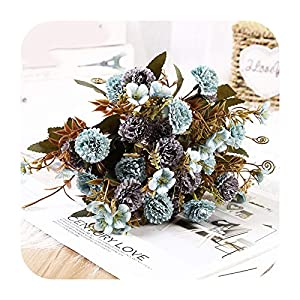 Silk Flower Arrangements Artificial Flower Lilac Flowers Ancient Shore for Wedding Special Small Silk Flowers for Home Party Room Fake Flower Decor-Style 02