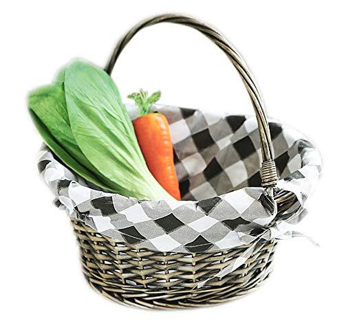STARAYS picknickmand van vimini, gevlochten picknickmand met mand voor reizen, cadeau