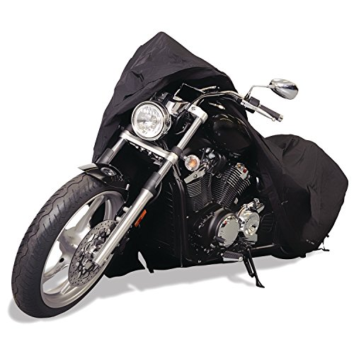 Budge Sportsman Motorcycle Cover Black Waterproof Trailerable Fits up to 96quot Long