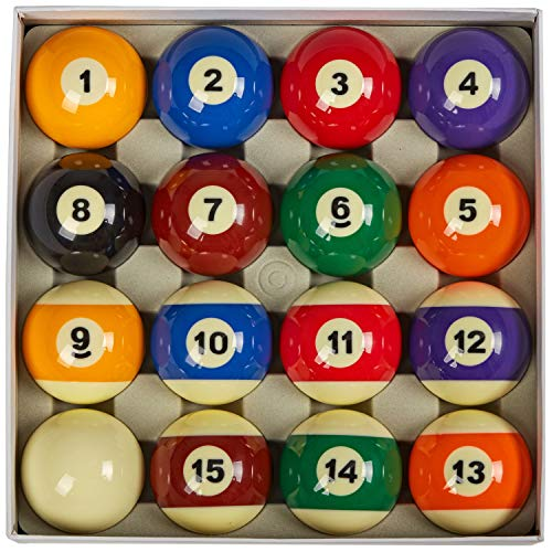 "Collapsar AAA Grade Billiards Pool Table Billiard Ball Set,2-1/4"" Regulation Size Full of 16 Resin Billiard Balls(Several Styles Available) (Art Number Style)"