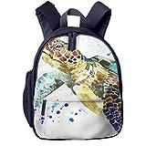 Kinderrucksack Kleinkind Jungen Mädchen Kindergartentasche Animal Sea Turtle Splash Backpack...