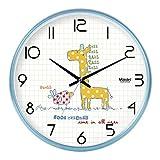 WCZQA Reloj de Pared Habitación for niños Reloj de Pared Moda Sala de Estar Dormitorio Reloj de Pared Simple Reloj de Cuarzo Creativo (Size : M)