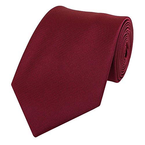 Fabio Farini - Elegante cravatta colori semplici da uomo in 8cm di larghezza in diversi colori per ogni occasione come matrimonio, cresima, ballo di fine anno Rosso scuro