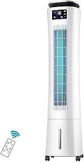 XUEBI Aire Acondicionado, Climatizador Evaporativo Electrónico Bajo Consumo con Ionizador, Temporizador Y Mando, Pantalla LED, Lamas Oscilantes, 60 W, Ionizador