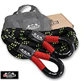Offroading Gear 20'x 1-1/4' Kinetic Recovery & Tow Rope (52,300 lbs) | Elastic Snatch Strap | Heavy Duty Loops | Truck/ATV/Jeep