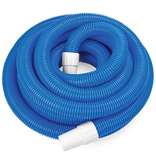 Spiral Wound Swimming Pool Vac Hose - 30 Ft EVA Tube with 1.5-inch Swivel Cuff - Extra Maintenance...