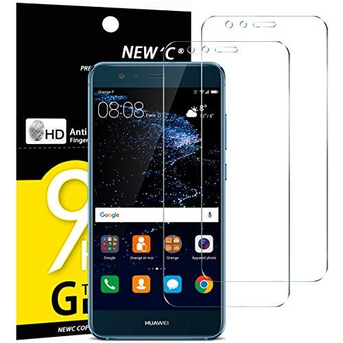 NEW'C 2 Stück, Schutzfolie Panzerglas für Huawei P10 Lite, Frei von Kratzern, 9H Härte, HD Displayschutzfolie, 0.33mm Ultra-klar, Ultrabeständig