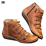 Sanmubo Trading 2019 Chaussures De Marche pour Femmes Chaussettes Baskets Bottes De Soutien pour Voûte Plantaire Bottes pour Dames Bottes Basses avec Fermeture À Glissière Latérale pour La Randonnée