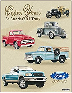 Desperate Enterprises Ford Trucks - Eighty Years Tribute Tin Sign, 12.75