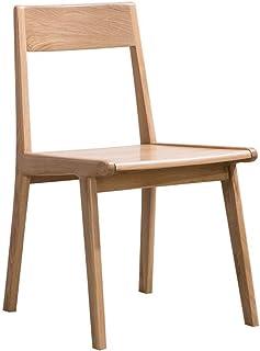 ShiSyan Silla de Comedor 2 sillas de Madera Maciza Silla de Comedor Mesa de Comedor Simple Silla y la combinación de sillas de Roble Blanco de Cocina (Color: Color de la Madera, tamaño: 48cm x 50cm x