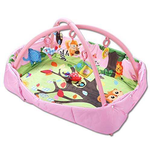 CarPET ZI Ling Shop- Lit carré bébé Jeu Couverture Couverture Tapis Rampant bébé Cadre de Remise en Forme Jouets éducatifs (125x95x50cm) (Couleur : Rose)