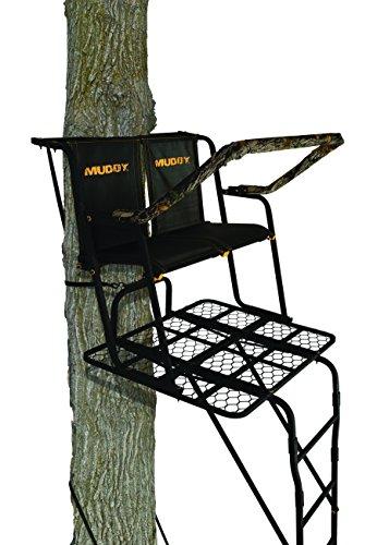 Muddy Partner 2-Man Ladderstand, Black, One Size