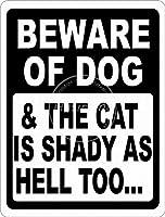 Beware Of Dog 金属板ブリキ看板警告サイン注意サイン表示パネル情報サイン金属安全サイン