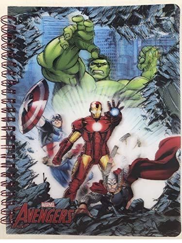 Marvel Avengers Notizbuch Spiralblock Spiralbuch Heft Notizheft Hausaufgabenheft Mitgebsel