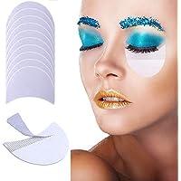Kalolary 100Pcs Sombra de Ojos Escudo Sombra de Ojos Gel Pad Parches Plantillas de Sombra de Ojos Para Prevenir las Extensiones de Pestañas, Teñido y Residuos de Maquillaje de Labios