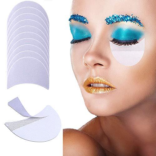 100 Stück Einweg Lidschatten Schablonen, Kalolary Make-up Shadow Shields Lidschatten Shields Pads...