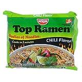 Nissin Top Ramen Chili Flavor Ramen Noodle Soup 3 oz