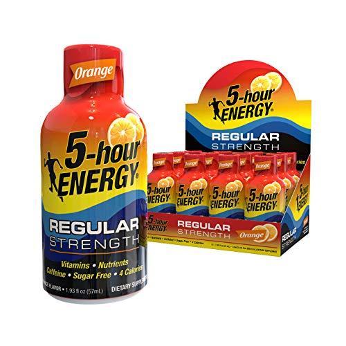 5-hour ENERGY Shot, Regular Strength, Orange, 1.93 Ounce, 12 Pack