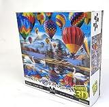 Howard Robinson - Puzzle de cartón - diseño lenticular de Globos aerostáticos Super 3D, Multicolor