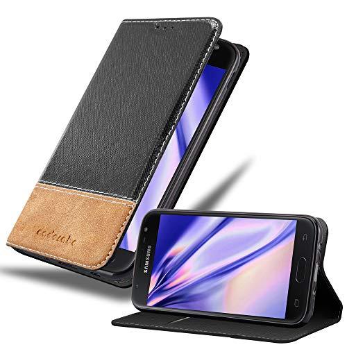 Cadorabo Funda Libro para Samsung Galaxy J5 2017 en Negro MARRÓN - Cubierta Proteccíon con Cierre Magnético, Tarjetero y Función de Suporte - Etui Case Cover Carcasa