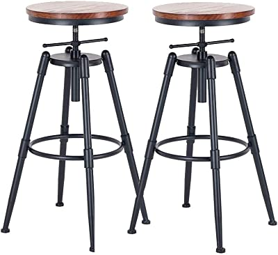 Magnificent Amazon Com Vilavita 2 Set Bar Stools 24 8 Inch To 30 8 Caraccident5 Cool Chair Designs And Ideas Caraccident5Info