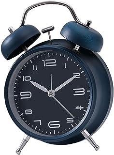 Baoblaze Hög mekanisk väckarklocka med dubbla klockor i retrostil för barnrum – mörkblå