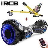 RCB Hoverboard elettrico scooter auto bilanciato ruote 6.5 inch con LED luce...