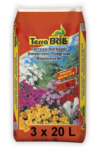 3 x 20L Pflanzerde Blumenerde Pflanzsubstrat Grünpflanzenerde