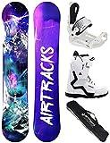 Airtracks - Set de snowboard para mujer (tabla de snowboard,...