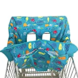 MomBayou Baby 2-in-1 Shopping Cart and High Chair Protective Cover~Padded~Fold'n Roll Style~Portable~Fun Sea World Design