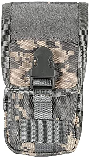 XinYiC Multiusos Premium Nylon al aire libre Molle bolsa compacta EDC utilidad Gadget cintura paquete para teléfono móvil y otras herramientas pequeñas - Camuflaje A