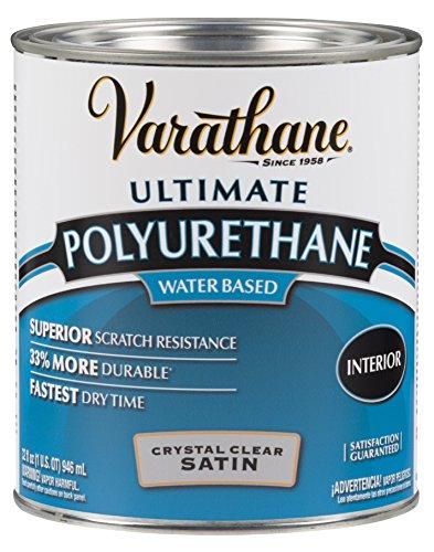 Varathane 200241H Water-Based Ultimate Polyurethane, Quart (2 Pack), Crystal Clear
