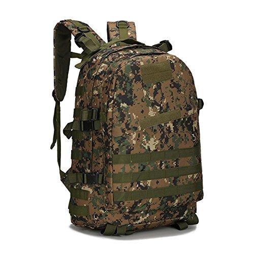 Ishop Sport Outdoor tactique Sacs à dos, sacs à dos d'assaut militaire Armée Combat Molle Sac à dos camping randonnée Trekking Sac Lot Sac à dos 40L L Color 08