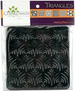 Cedar Canyon Rubbing Plates Triangles 6Ct