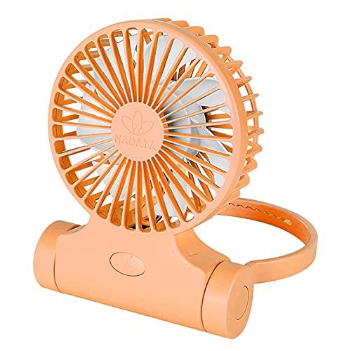 XIHUANNI Mini ventilador recargable por USB, portátil para colgar en el cuello, multifunción de tres velocidades, ventilador de refrigeración de mano para exteriores