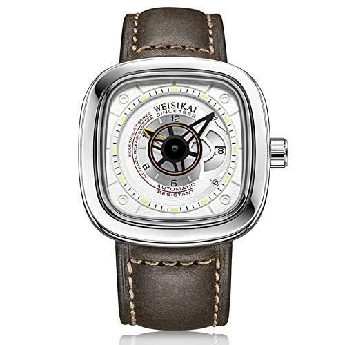 Relojes para Hombre, Reloj de Pulsera, Regalos para Hombre, Reloj mecánico automático, Esfera Luminosa con Moda Impermeable -B