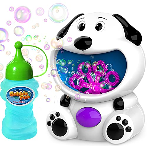 Copop Bubble Machine Dog Bubble Blower 600+ Bubbles Per Minute, Toddlers Toys Bubble Machine for Toddlers Kids Baby Bath Toys Indoor Outdoor Automatic Bubble Maker Easy to Use 2 AA Batteries Needed