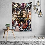 Musicals Hamilton Tapestry Wall Hanging Blanket Backdrop for Bedroom Living Room Dorm Dormitory Tales Wall Decor 60x40inch