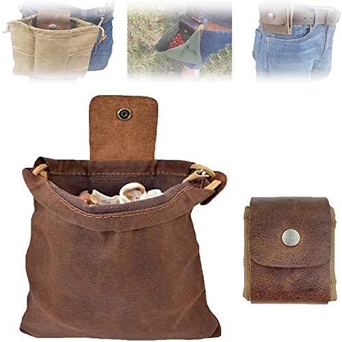 Canvas Bushcraft Tasche Mit Lederbezug Und Schnalle Faltbare Hochleistungs-Werkzeugtasche Mit...