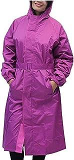 Kavish Women's Waterproof Purple Raincoat with Hidden Collar Pocket for Cap