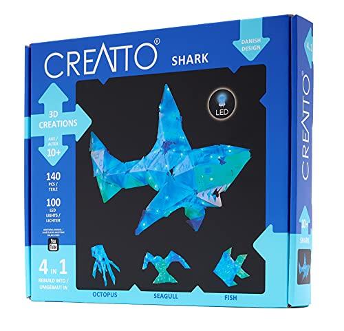 CREATTO:템즈&코스모스에서 쉬머 상어&바다 친구 라이트 업 공예 퍼즐