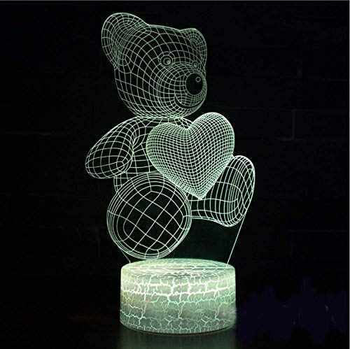 Lámpara de escritorio de moldeo de águila realista en 7 colores Visual 3D, luz de noche de atmósfera de gradiente Led, decoración para el hogar, lámpara de lava para regalo para niños